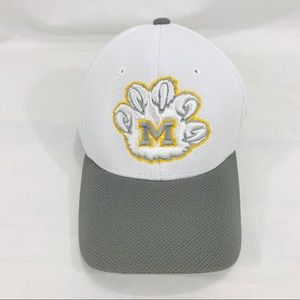University of Michigan White & Gray Fitted Hat M/L